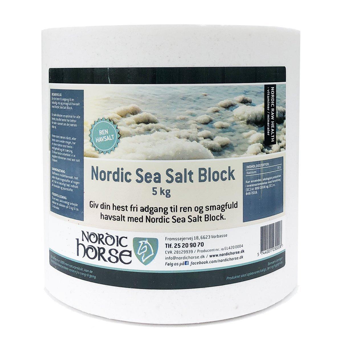 Nordic Horse Sea Salt Block - Neutral